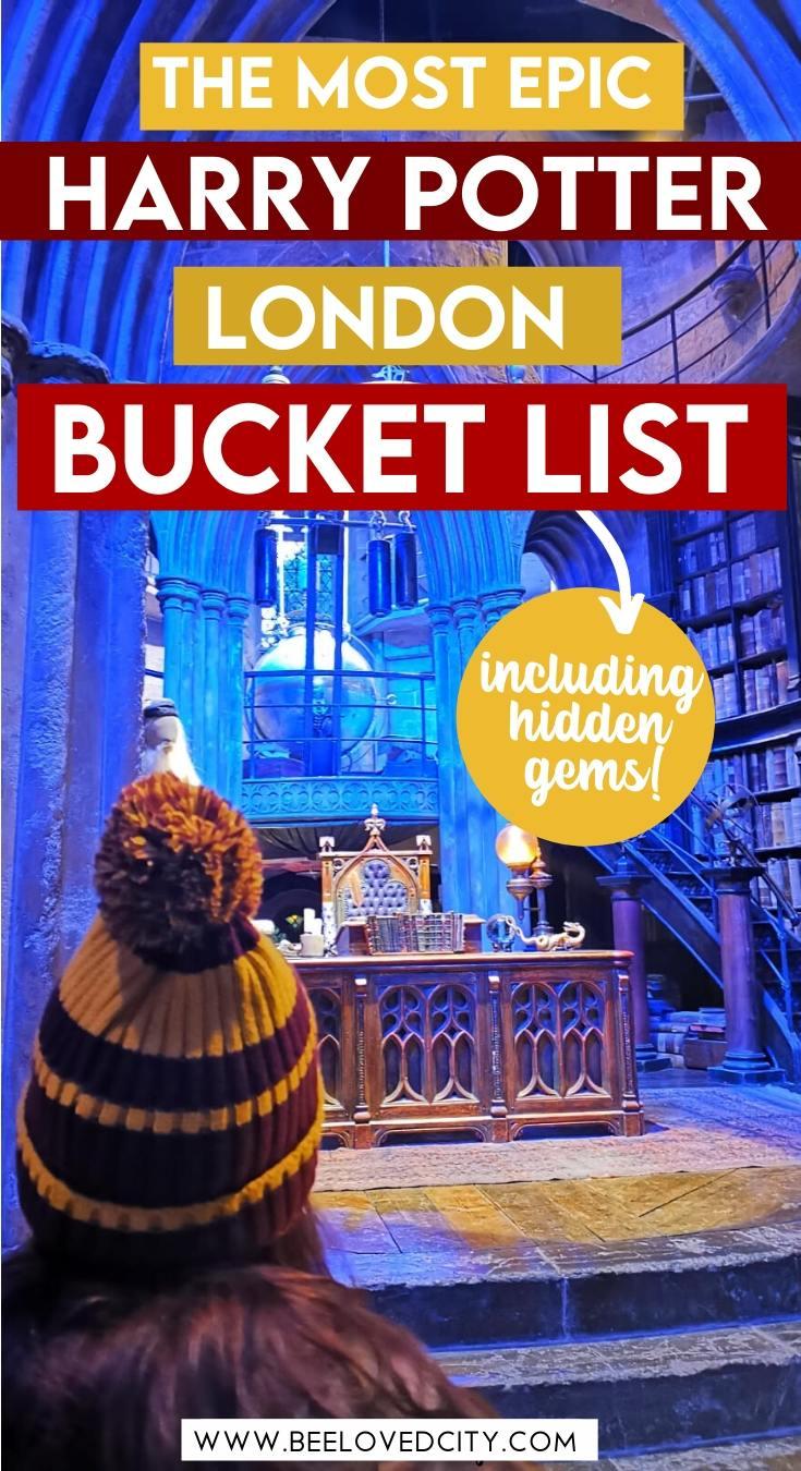 harry potter bucket list london