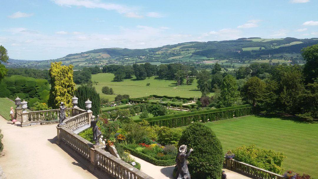 visit of Powis Castle gardens near Welshpool