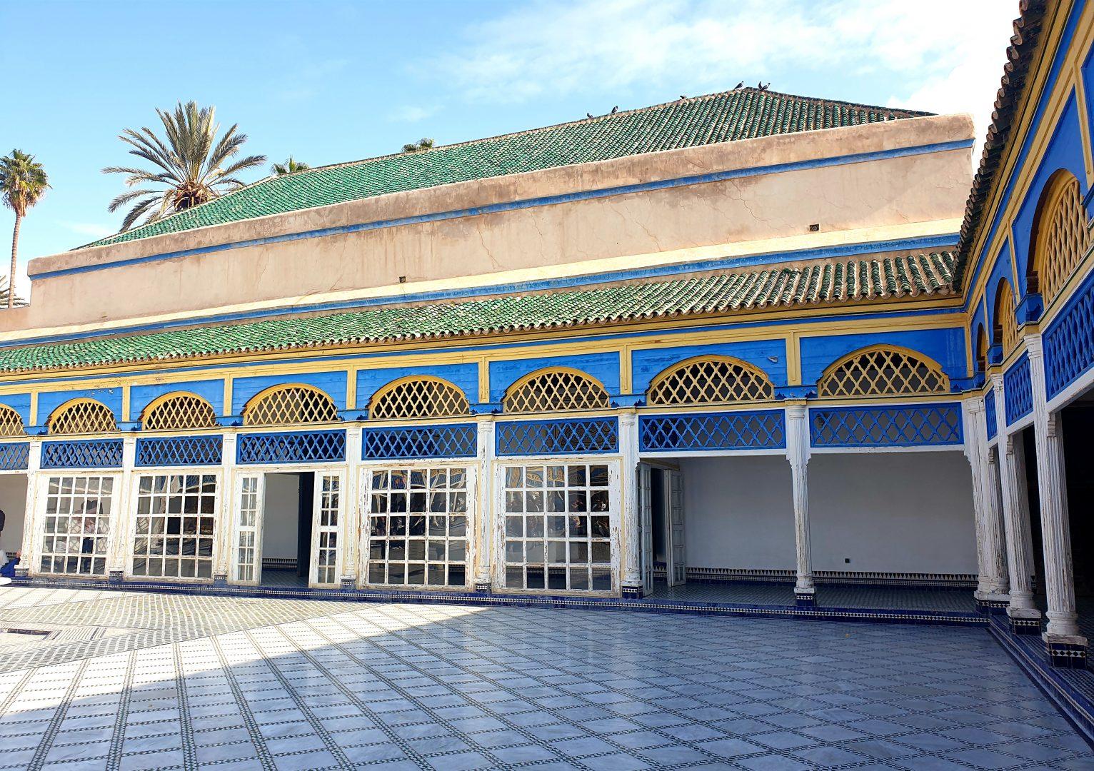 inside palais Bahia marrakech