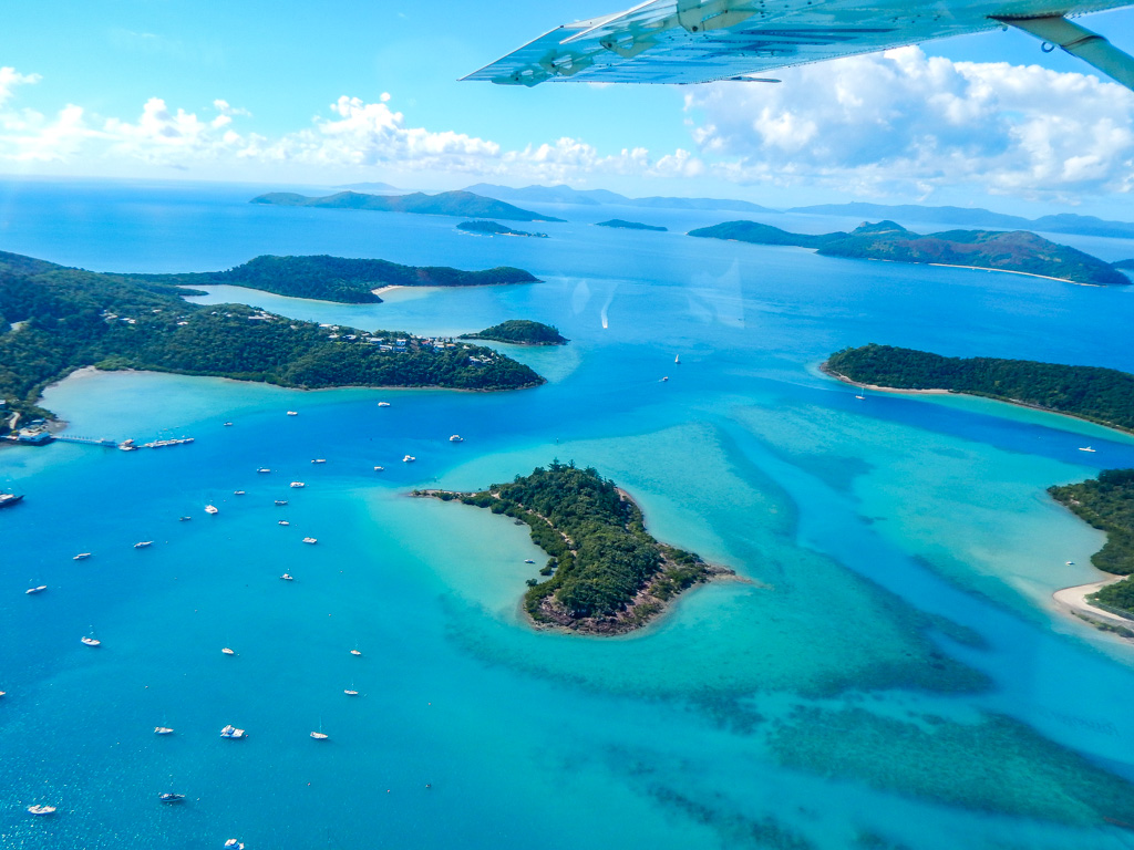 whitsunday islands scenic flight