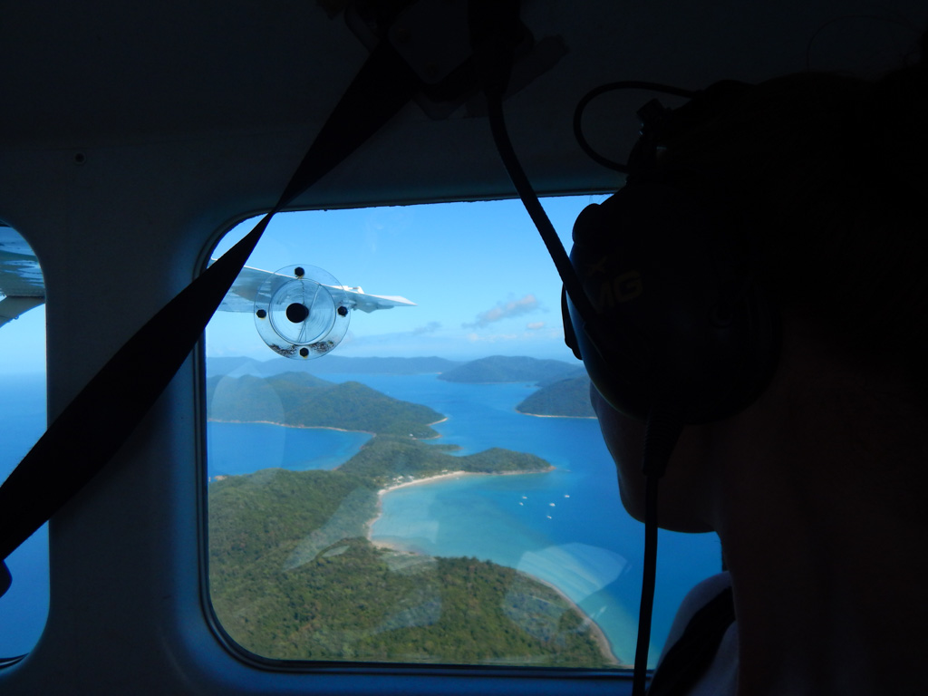 view from scenic flight airlie