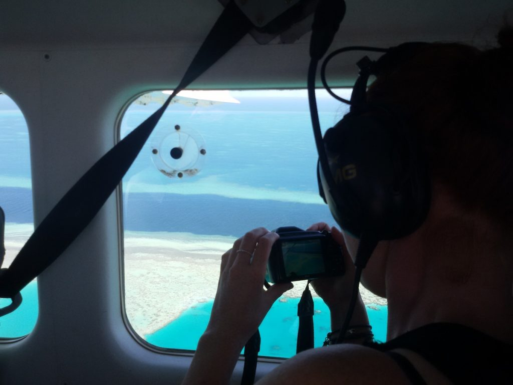 great barrier reef flight