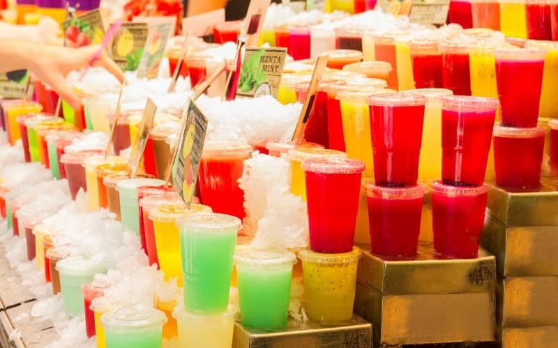 smoothies in barcelona market boqueria
