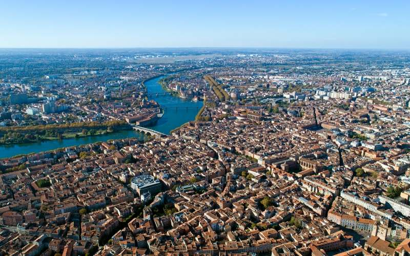 aerial view of toulouse