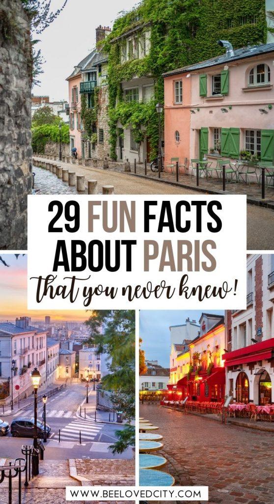 Best fun facts about Paris France
