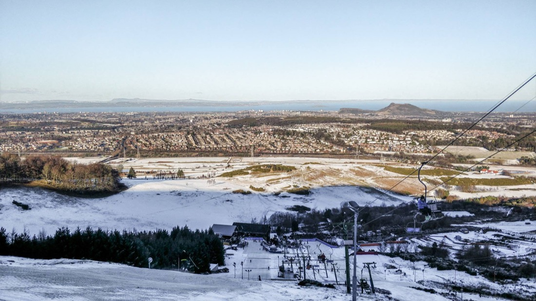 Hillend Ski Centre Near Edinburgh Outdoor activities in scotland