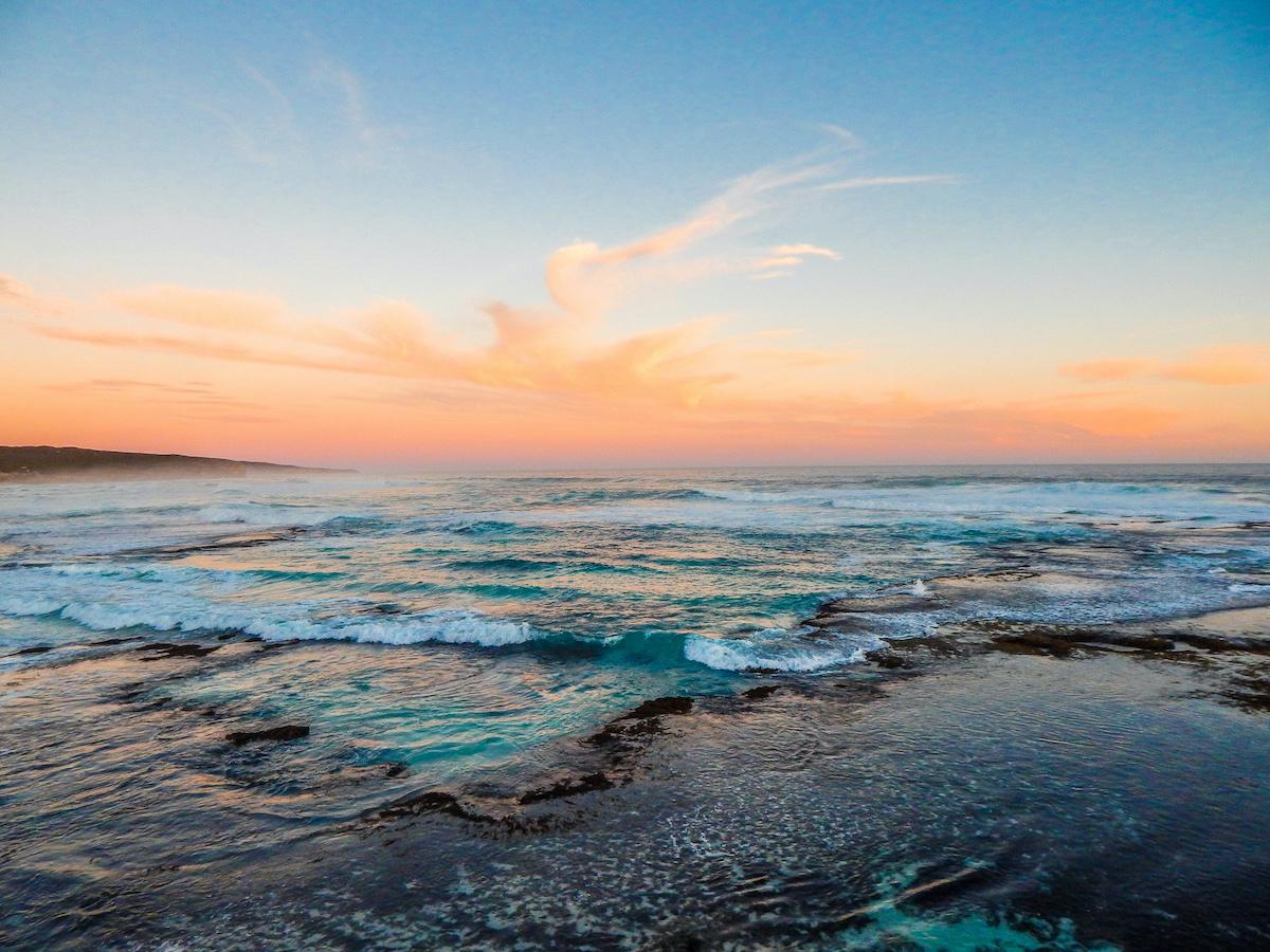 sunset south australia hanson bay