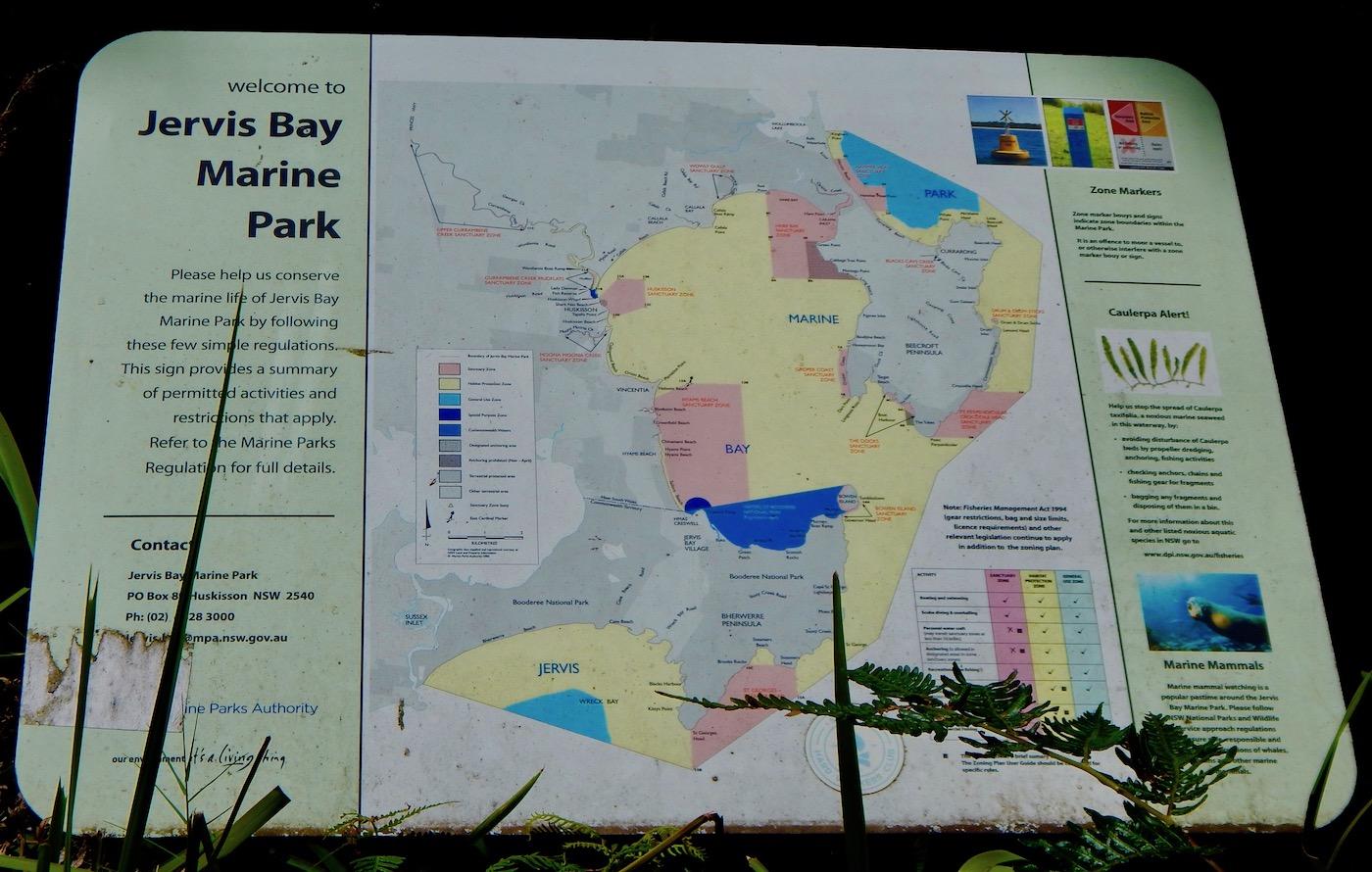 Jervis Bay marine park Map