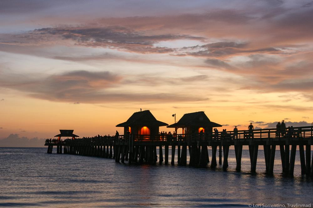 naples pier beach in south florida