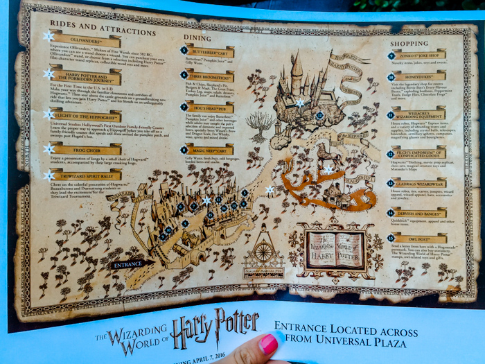 Map of the Wizarding World of Harry Potter