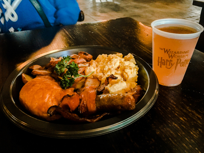 Harry Potter meal at the wizarding world of HP