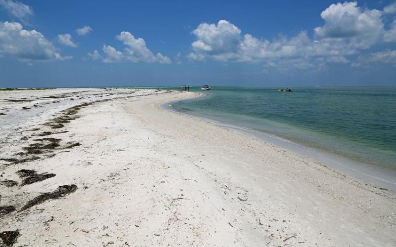 Beach on Caladesi Island state park in Florida