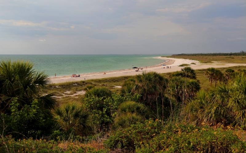 Beach in Fort de Soto in Florida
