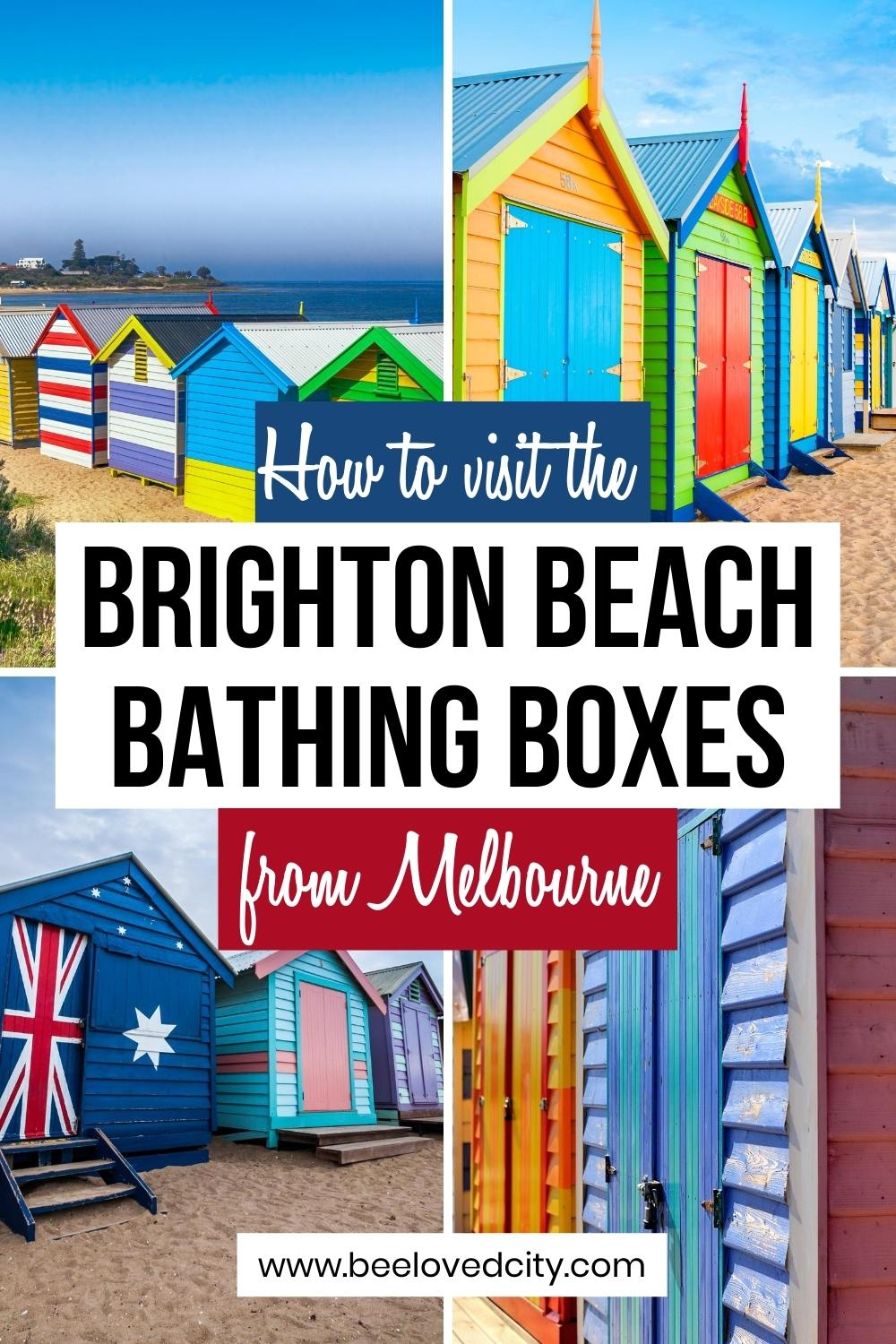 how to get to brighton Bathing boxes from Melbourne