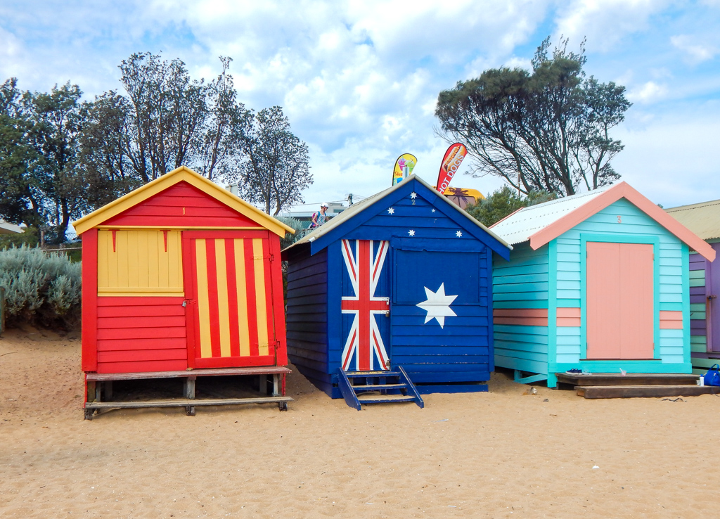 melbourne bathing boxes in brighton