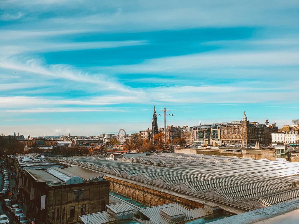 edinburgh view in winter