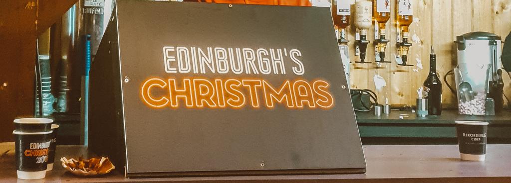 christmas market in edinburgh scotland