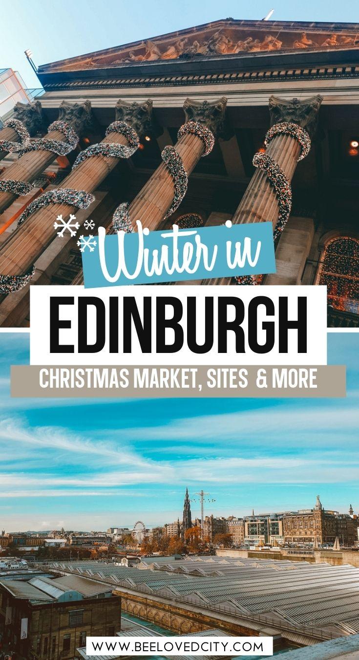 winter activities in Edinburgh Scotland