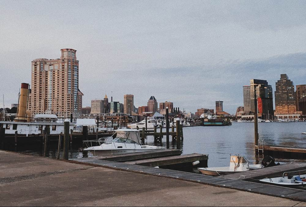Baltimore in winter