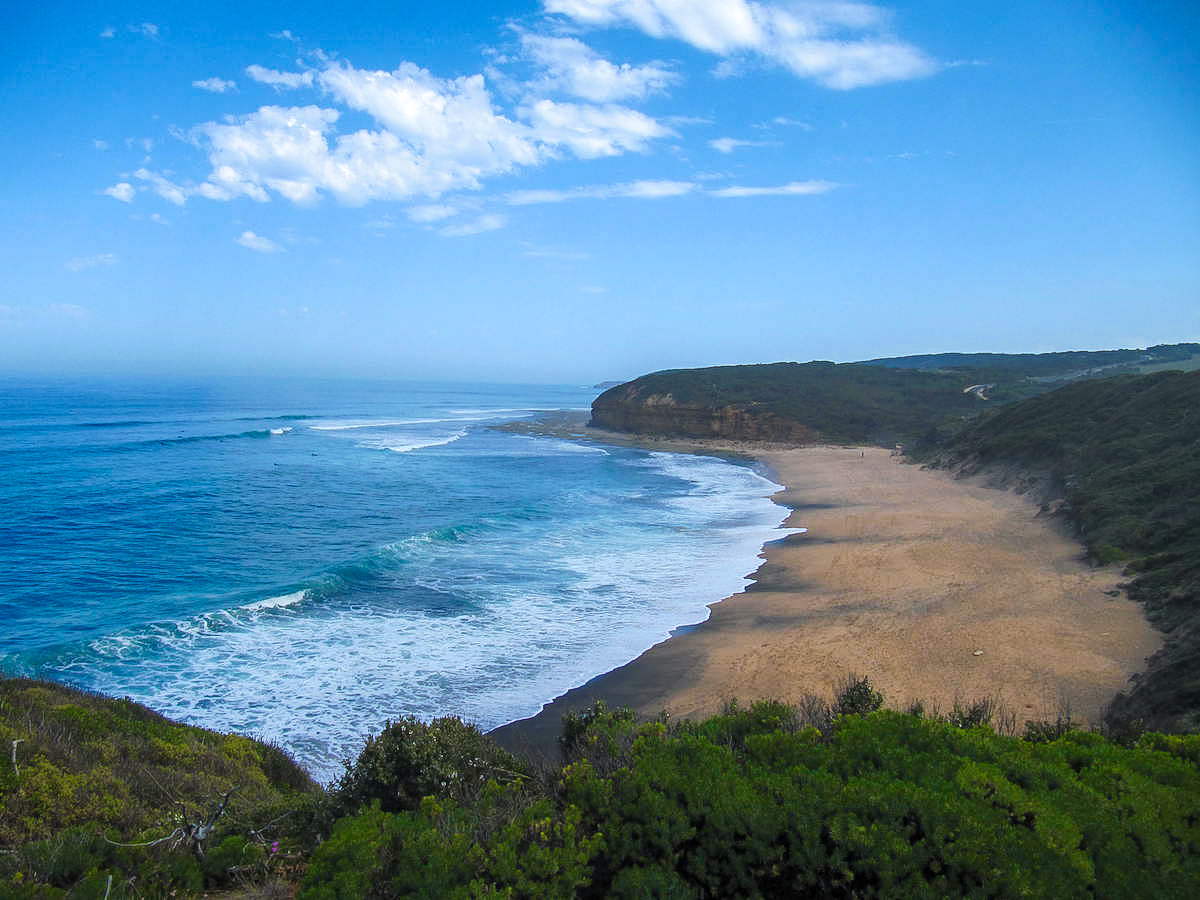 Bells beach stop on Great Ocean Road itinerary