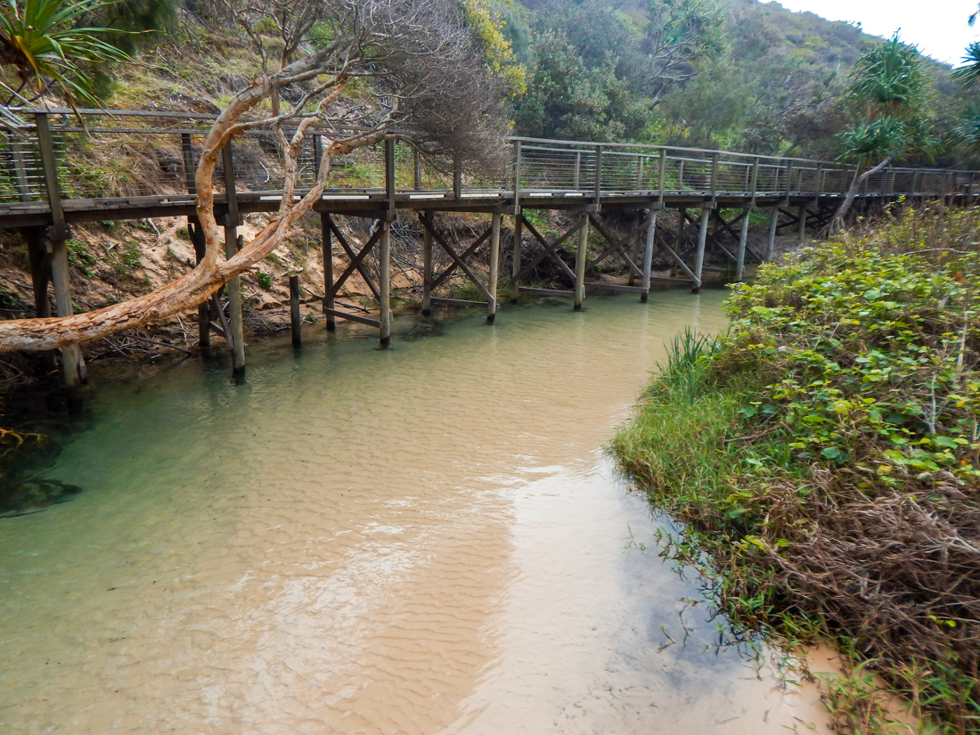 Eli creek on fraser island