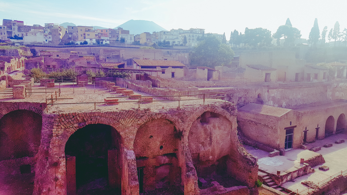 Visiting Ercolano from Naples Italy