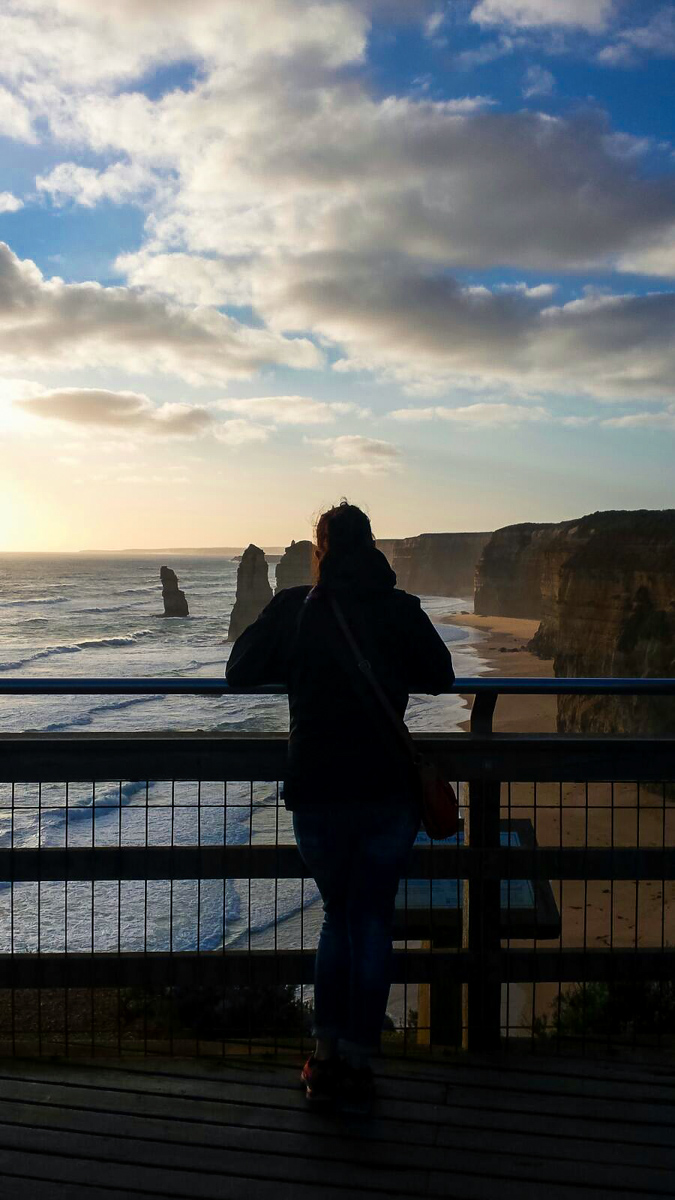 Sunset at the 12 apostles in Australia