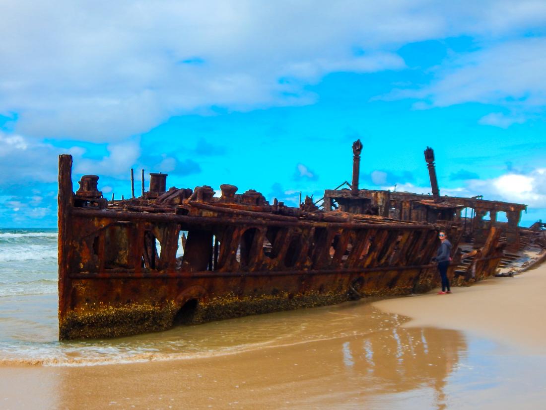 Shipwreck on Fraser Island S.S. Maheno