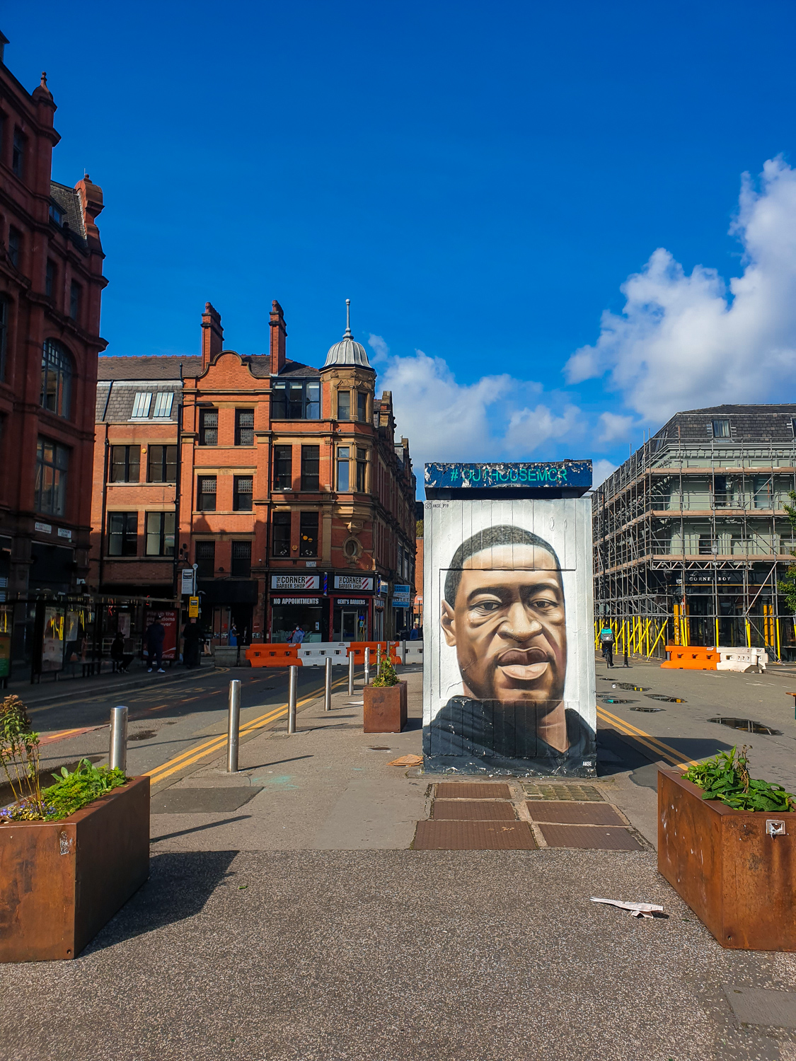 Mural on stevenson square in Manchester England