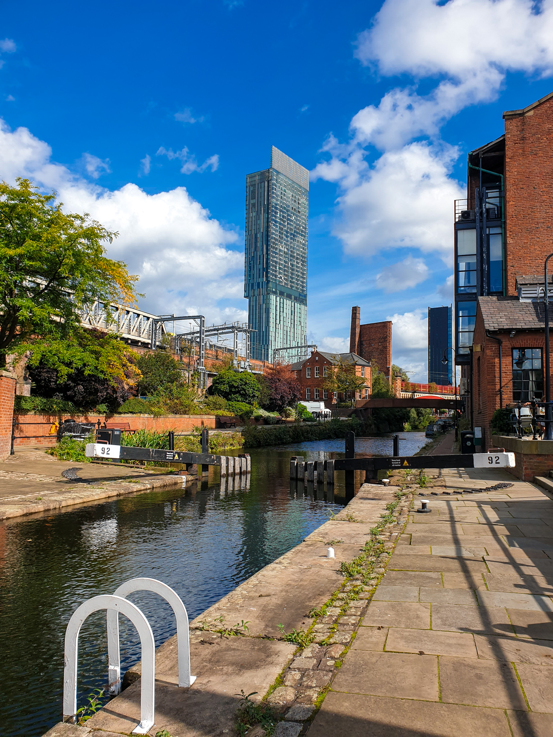 Manchester Castlefield with Beetham tower