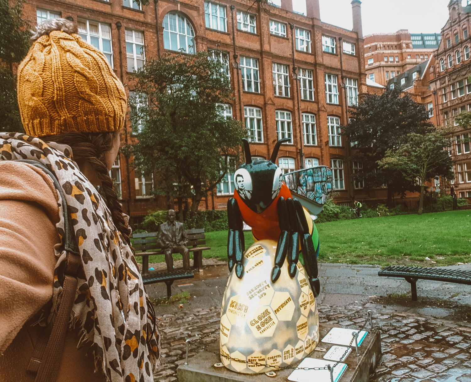 Alan turing memorial and LGBTQ bee in Manchester