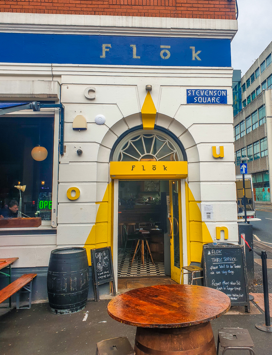 Flok bar in Northern Quarter Manchester