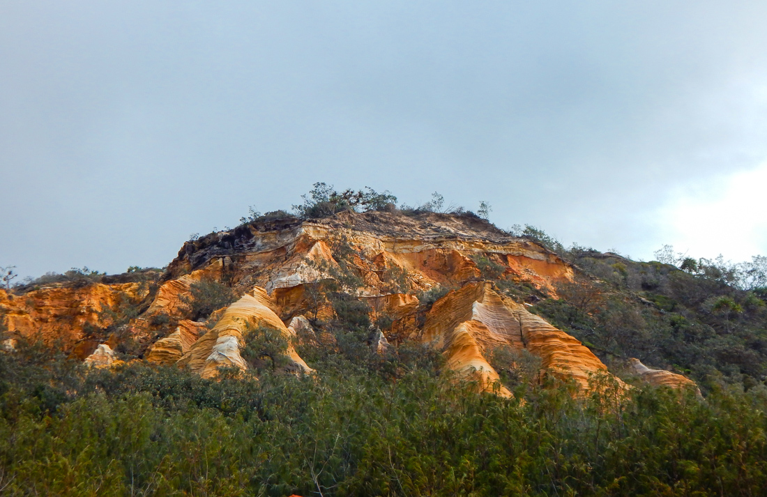 Visiting the pinnacles on Fraser island