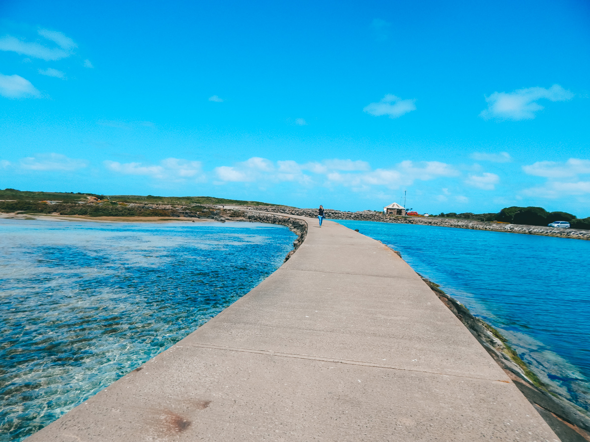 walking path to Griffiths Island in Port Fairy Victoria