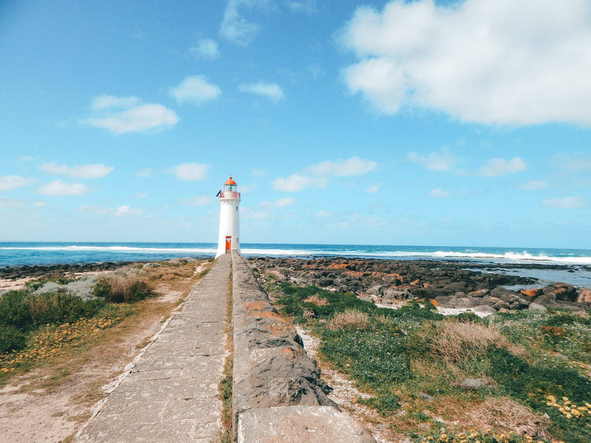 Lighthouse in Port Fairy Griffiths Island