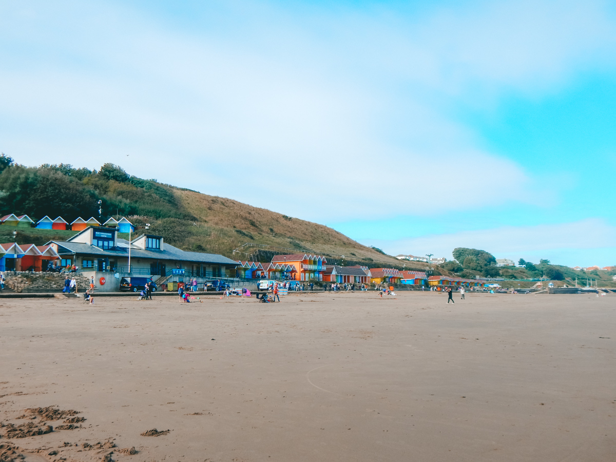 How to see the beach huts in Scarborough England
