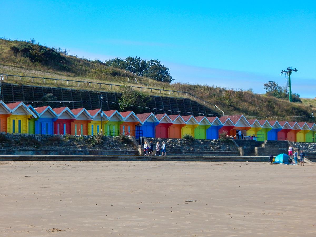 Beach huts in Scarborough Yorkshire coast