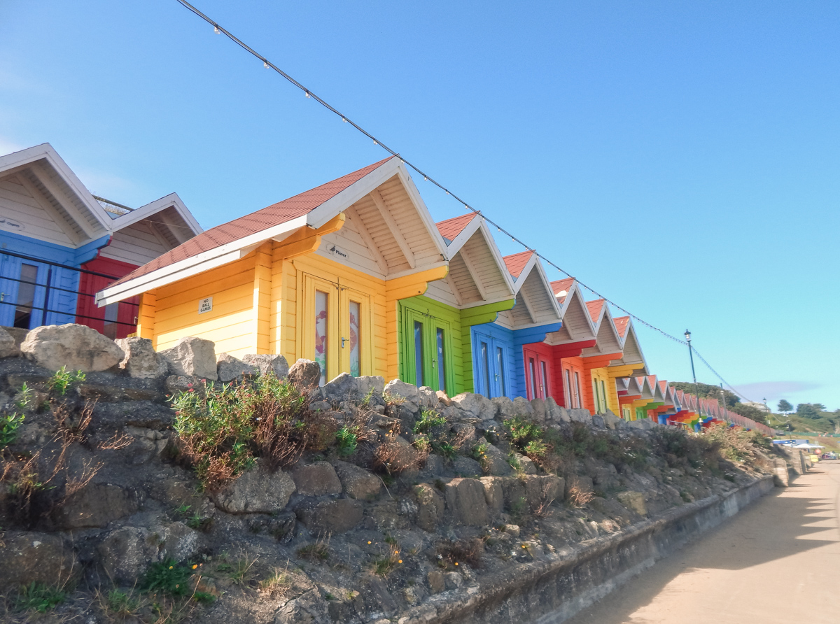 Beach chalets in Scarborough Yorkshire