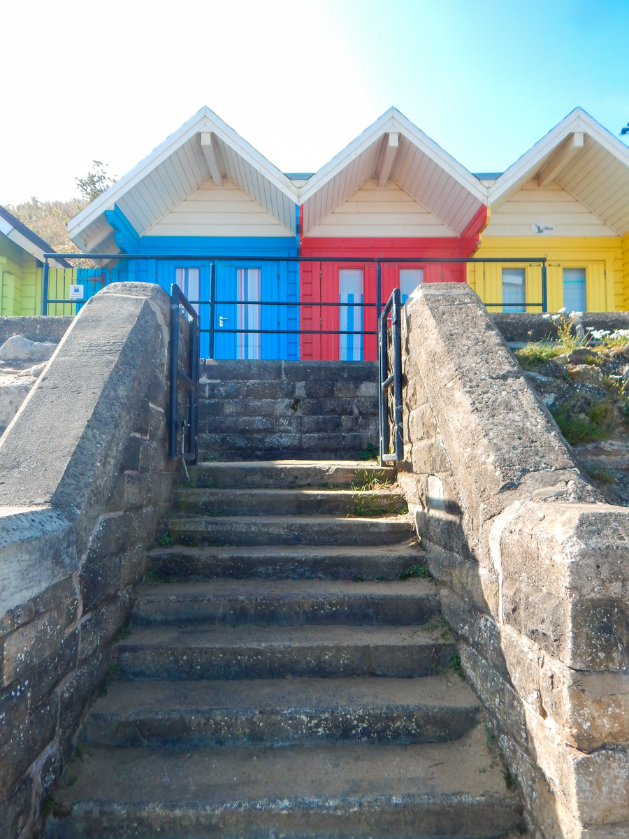 Beautiful beach huts in Scarborough Yorkshire