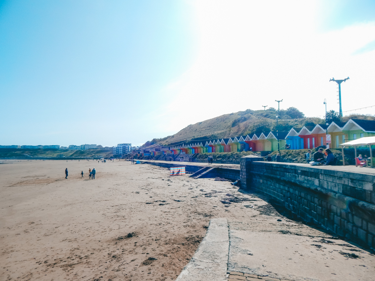 Beach huts cafe in Scarborough
