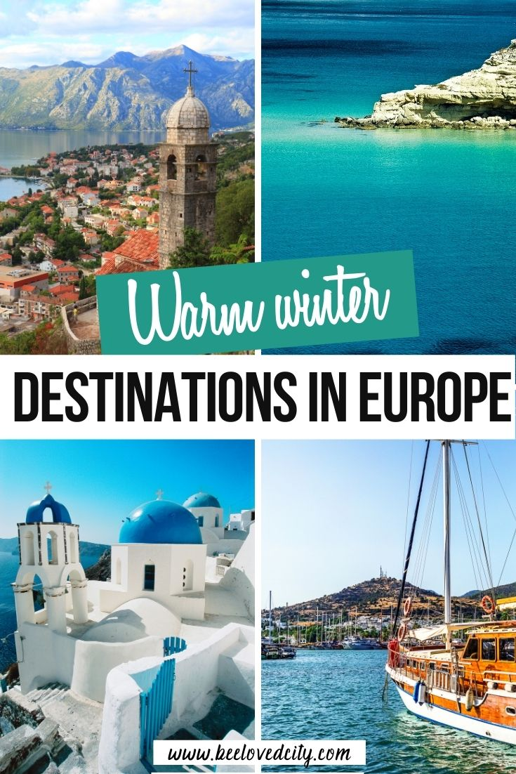 Warm winter destinations in europe for winter sun