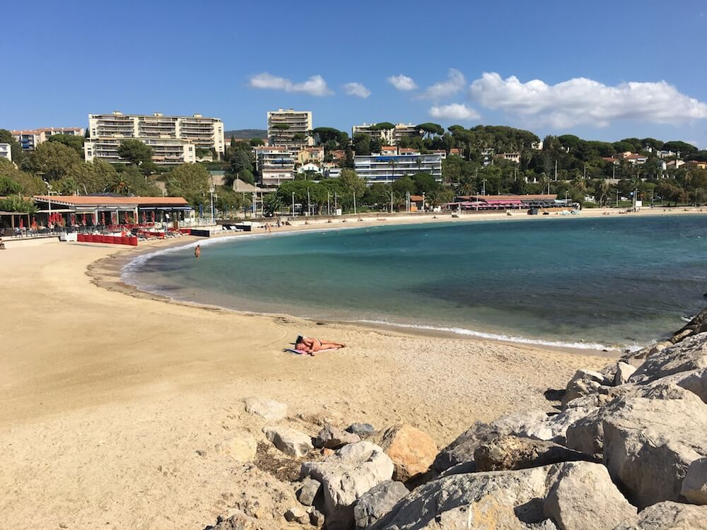 Beach Mourillon in Toulon France