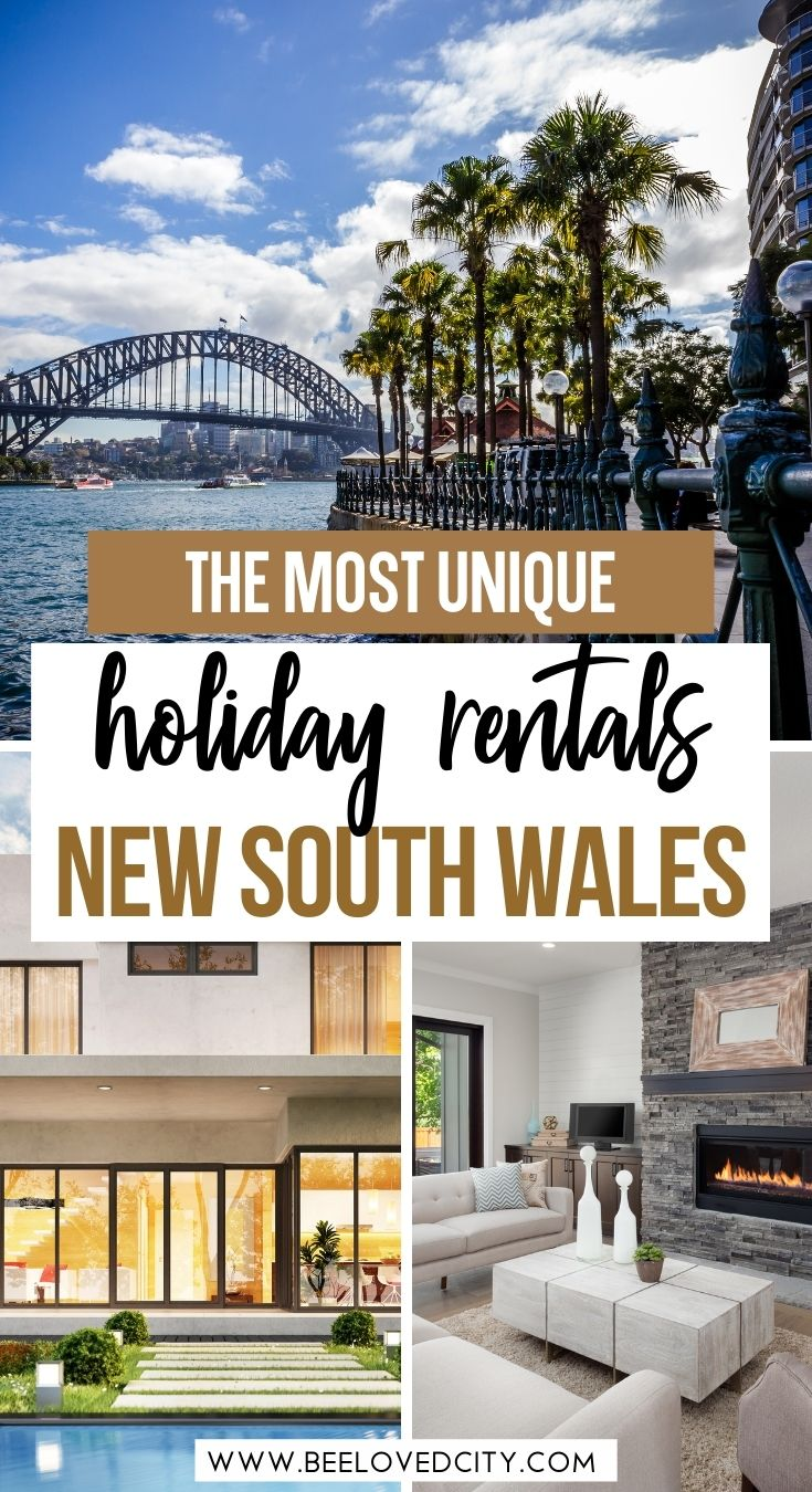 Unique holiday rentals in New South Wales Australia
