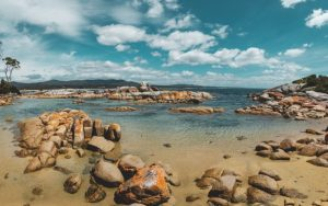 Visiting Bay of Fires in Tasmania