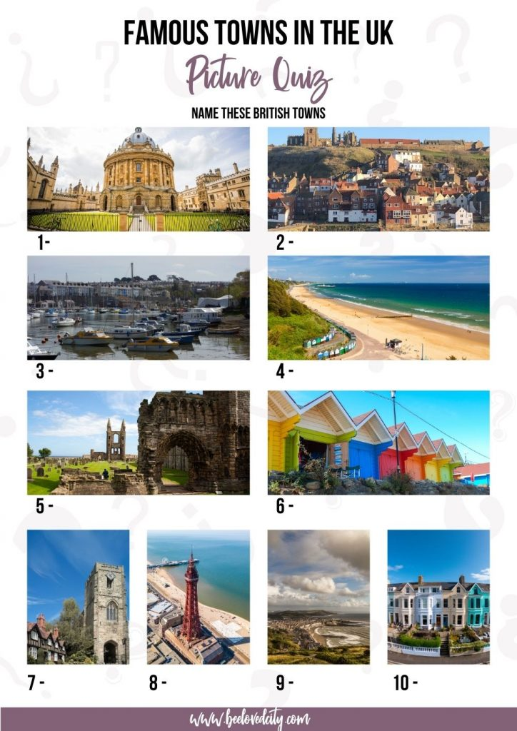 Towns in the UK Picture Quiz