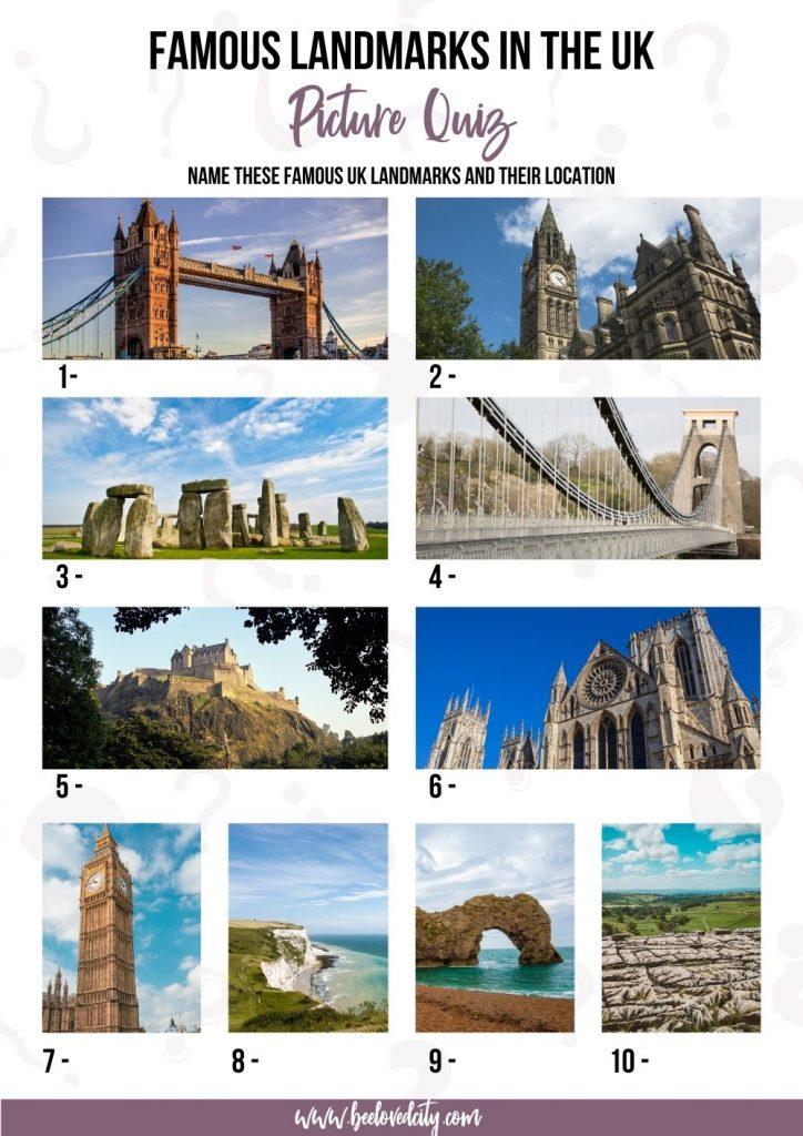 Famous British Landmarks Picture Quiz