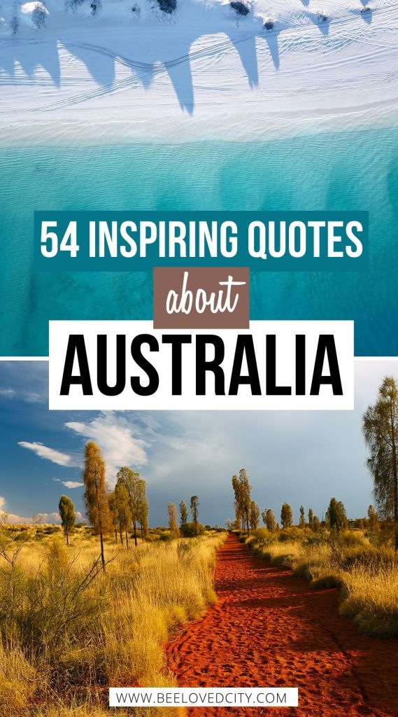 Inspiring quotes about Australia