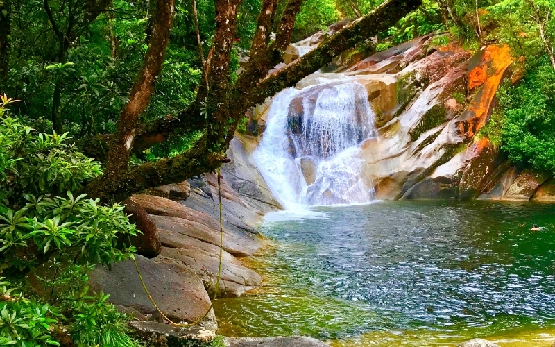 Visiting Josphine Falls near Cairns