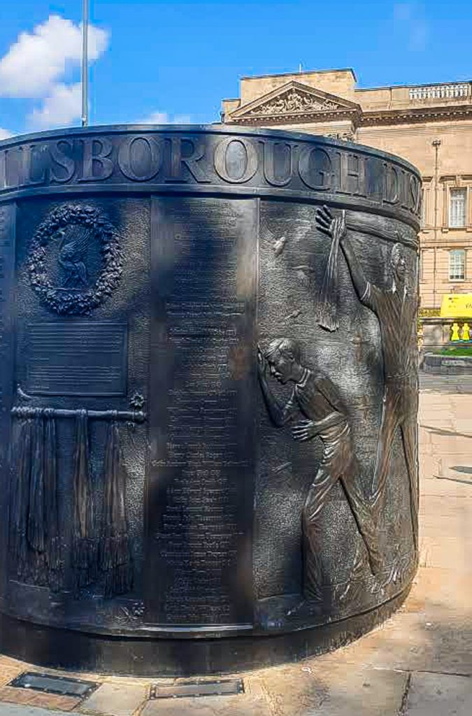 Hillsborough disaster Monument in Liverpool