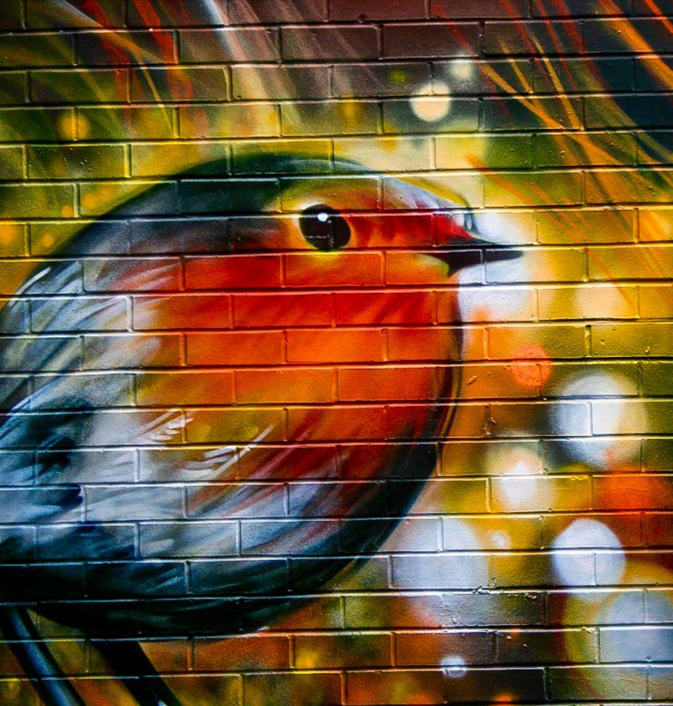 Bird mural manchester northern quarter